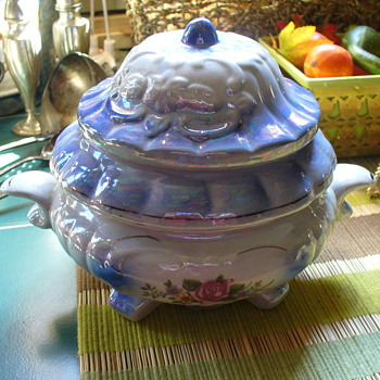 Blue Sugar Bowl - China and Dinnerware