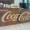 Coca Cola Tin Sign (3.5 ft. x 9.5 ft.)