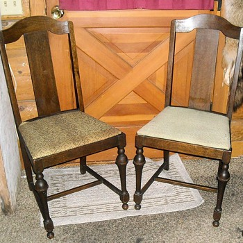 Vintage Straight Back Dining Chairs - Furniture
