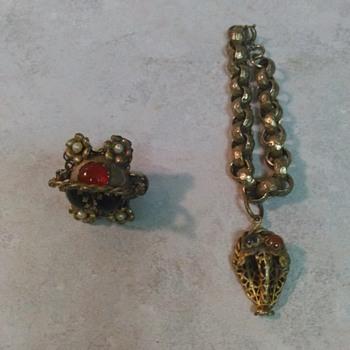 ANTIQUE GERMAN JEWELRY - Costume Jewelry