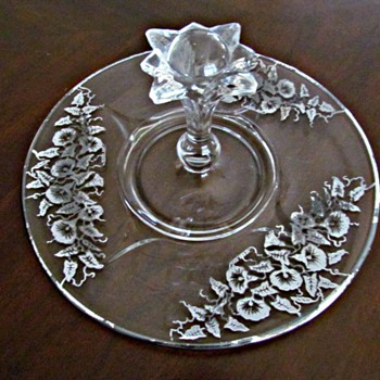 Paden City Center Handle Tray Server - Glassware