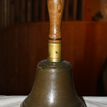 Wood-handle Brass (or Bronze) Hand Bell