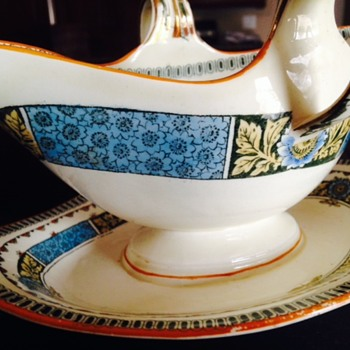 Vintage Decorative Gravy Boat - China and Dinnerware