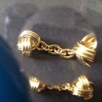 Antique gold cuff links  - Fine Jewelry