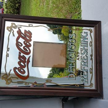 1970's Large Coca-cola mirror - Coca-Cola