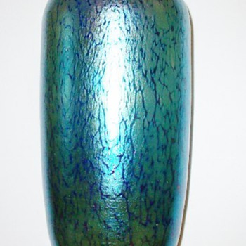 Loetz Cobalt Papillon Vase c.1900. PN II-40