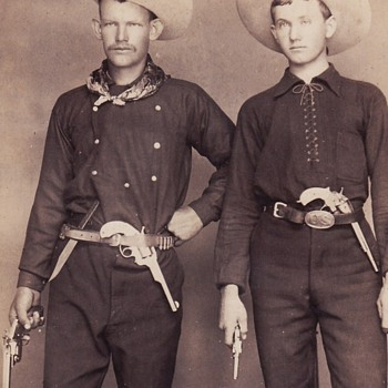 1880s Cabinet Card of Armed Cowboys