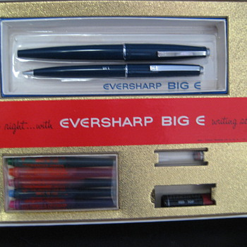 Eversharp Big E Writing set. Has six color ink cartages. Not sure how old it is. Never been used. Still in the box.