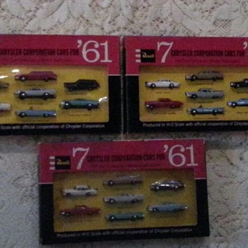 Vintage Revell 7 Chrysler Corporation Cars for '61