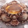 Favorite Victorian 15 Ct brooch w big citrine