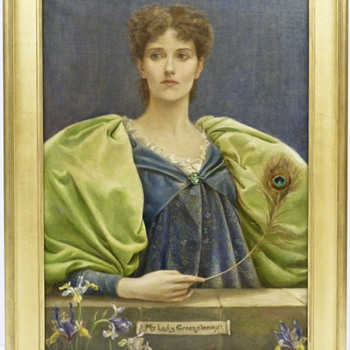 W. Graham Robertson 1893 Late Pre-Raphaelite Oil Painting