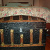 Antique humpback trunk