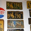 Vintage Wyoming License Plates