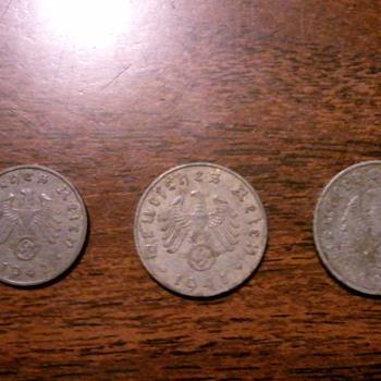 1 & 5 Reichspfennig