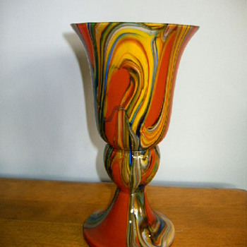 Czech- Marbled red pieces  - Art Glass