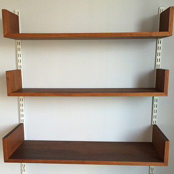 Mid century modern shelving unit.