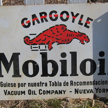 Mobiloil Gargoyle Flange Sign - Advertising