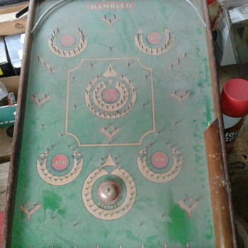 Antique Pinball Marble Game  - Games