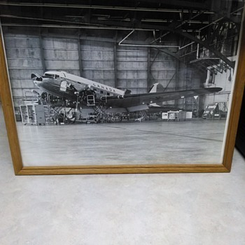 VINTAGE PHOTO OF A PLANE - Photographs
