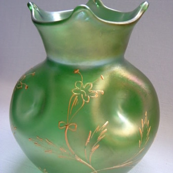Art Nouveau Vase with Hand Enamelled and Gilded Design.....Part I