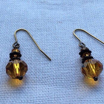 Antique faceted cut citrine earrings