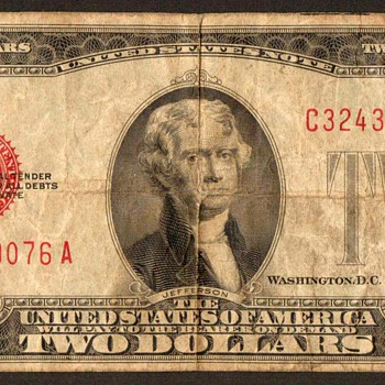 1928 D - Two Dollar United States Note