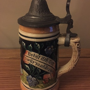 Western Germany Beer Stein - number inside handle 1309. - Breweriana