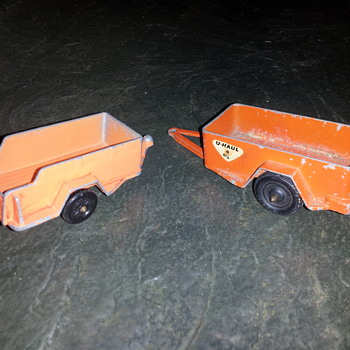 Tootsietoy U-Haul Trailers and 1959 Oldsmobile - Model Cars
