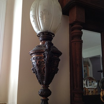 I was told that this is an 1860 German Brass Well lamp.