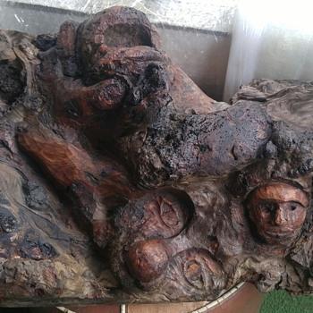 Antique Natural / Hand Carved Driftwood - Folk Art