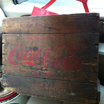 Coca Cola Syrup Jug box.