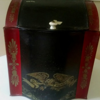 Antique Toleware Tea Caddy