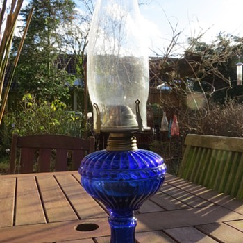Czech Glass Oil Lamp?