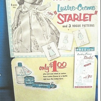 "1950's Advertising  Doll For The Colgate- Palmolive Co."" Starlet"""