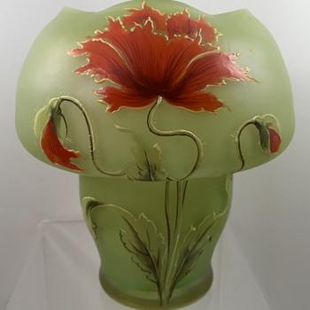 Ferdinand von Poschinger (Buchenau) enameled vase, PN 94/II, ca. 1899 - Art Glass
