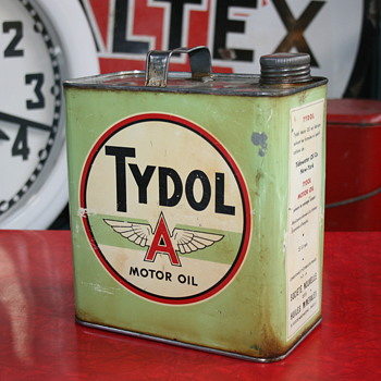 Tydol oil can - Petroliana