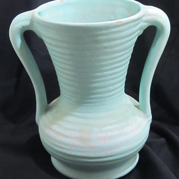 Double handle pottery vase