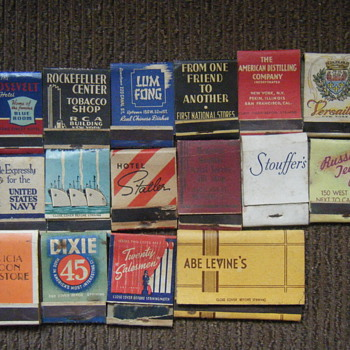 17 matchbook collection - Tobacciana