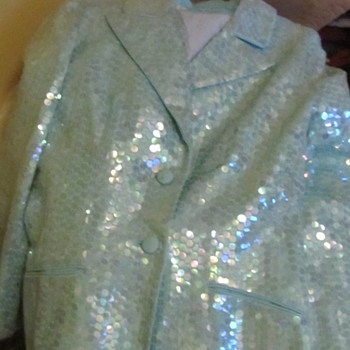 Women's Blue Sequined Coat Florence Fashions  - Womens Clothing