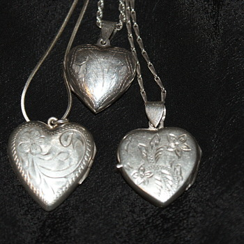 Sterling Heart Lockets – A bit too late for Valentine's Day