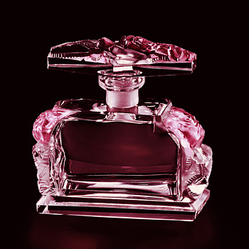 "Art Deco Crystal Perfume Bottle, ""The Scent of Roses"", by Ingrid, Czechoslovakia"