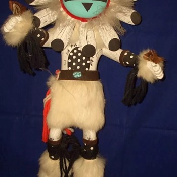 Sharing my Hopi  Sun Face Kachina by C.C. Tewia