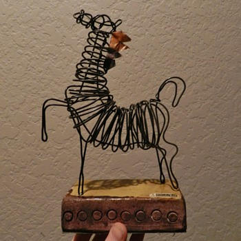 Mid/Mod Italian Wire Sculpture for ROSENTHAL-NETTER