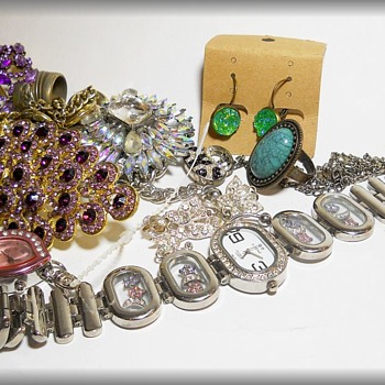 Garage Sale Find - All For $ 10 - Costume Jewelry