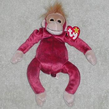 "1999 - TY Beanie Baby ""Schweetheart"" Monkey"