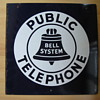 "Bell System Public Phone 18"" Porcelain sign"