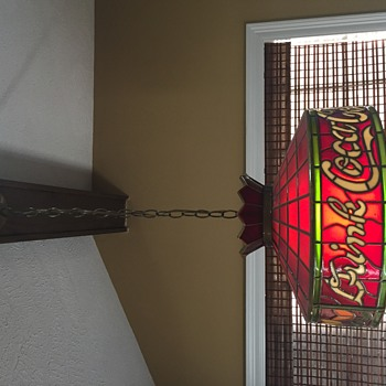 My Favorite Vintage Coca Cola Pendant Light