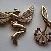 2 Brooches  from costume jewelry maker PL