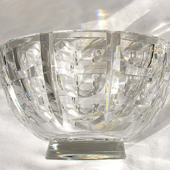 Orrefors Thousand Windows Lead Crystal Bowl - Glassware