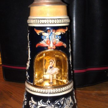 German DBGM stein with music box - Breweriana